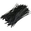 Pre-cut Wire 0,25mm, black, 7,5cm, 100pcs