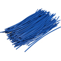 Pre-cut Wire 0,25mm, blue, 7,5cm, 100pcs