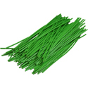Pre-cut Wire 0,25mm, green, 7,5cm, 100pcs
