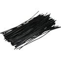 Pre-cut Wire 0,25mm, black, 10cm, 100pcs