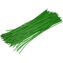 Pre-cut Wire 0,25mm, green, 12,5cm, 100pcs