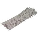 Pre-cut Wire 0,25mm, white, 12,5cm, 100pcs