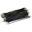Pre-Cut-Stripped Wire 0,25mm, black, 7,5cm, 100pcs
