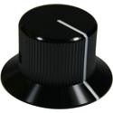 Brushed Aluminum knob Black