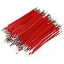 Pre-Cut-Stripped Wire 0,5mm, red, 5cm, 100pcs