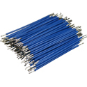 Pre-Cut-Stripped Wire 0,5mm, blue, 5cm, 100pcs