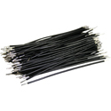 Pre-Cut-Stripped Wire 0,5mm, black, 7,5cm, 100pcs