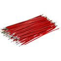 Pre-Cut-Stripped Wire 0,5mm, red, 7,5cm, 100pcs