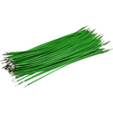 Pre-Cut-Stripped Wire 0,5mm, green, 12,5cm, 100pcs
