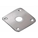 Schaller Jack plug plate. Brass Satin Chrome