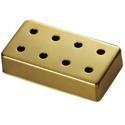 Schaller cover 8 Hole Bass Gold