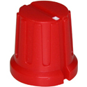Ribbed knob Ribby-16-Red